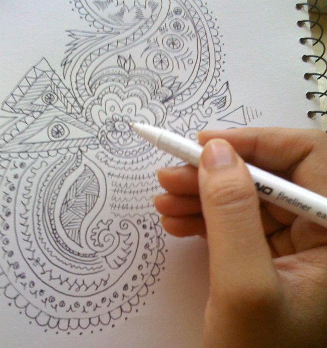 my henna design doodle