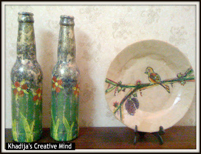 hand painted spring bottles