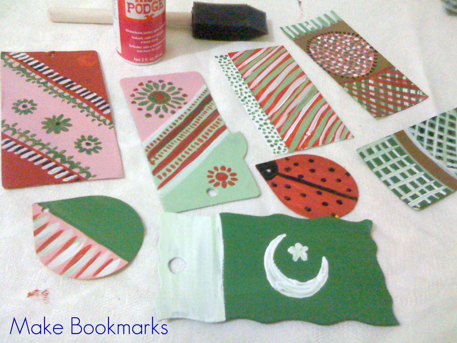 back to school handmade bookmarks