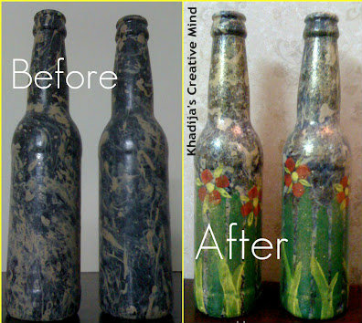 Empty Glass Bottle Recycling Creative Idea and Tutorial