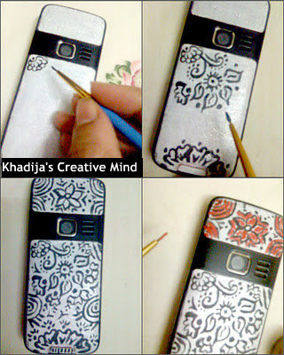 cell phone casing henna design