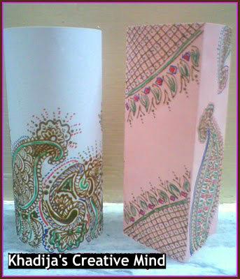 DIY Paper Lantern With Hinna Designs