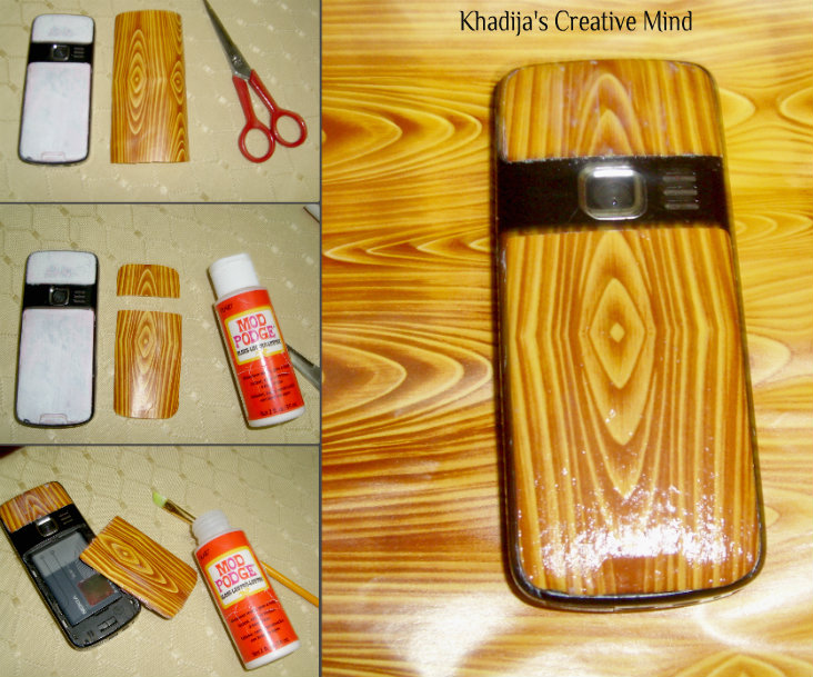 DIY Faux Wooden Cell Casing