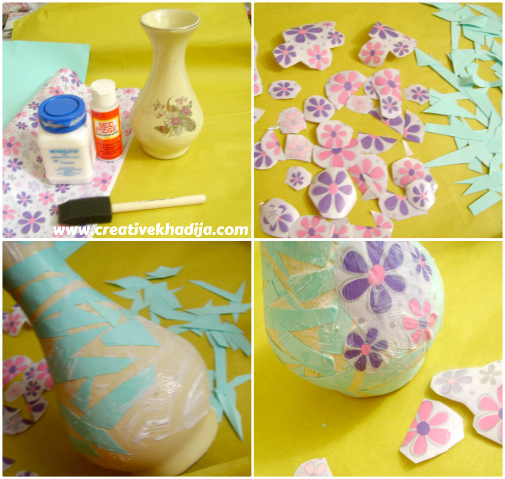 DIY Decoupaged Vase