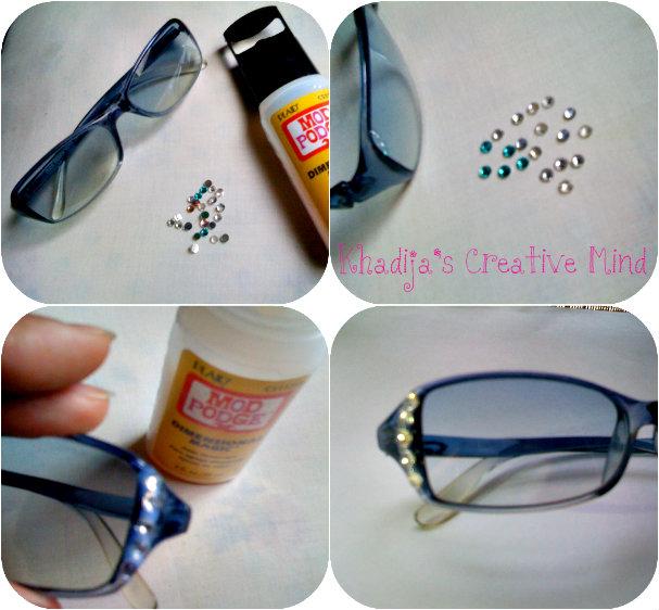 DIY Sunglasses With Rhinestones