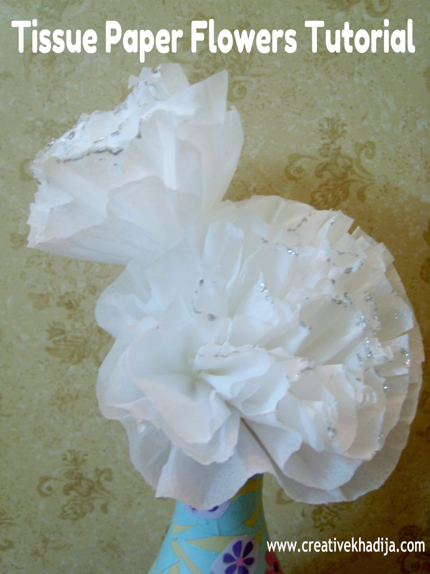Tissue Paper Flowers Making