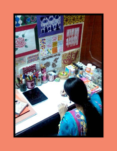 creative khadija workspace art room