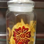 glass food jar painting ideas