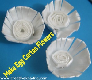 Egg Carton Flowers-Recycling