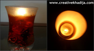 candle in paper lantern