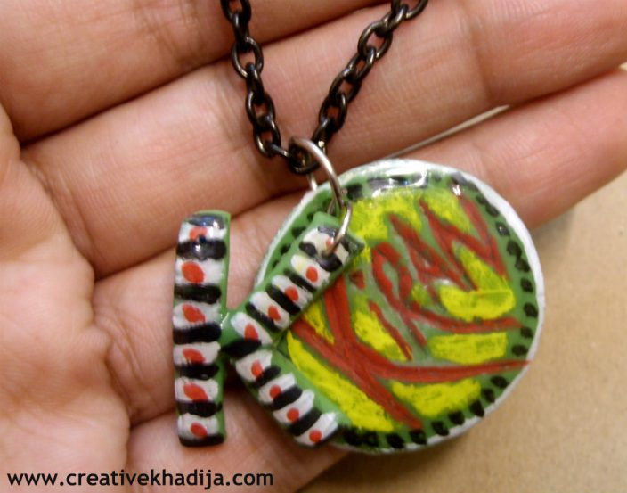 clay jewelry making pendant