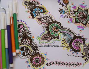henna designed paper lanterns