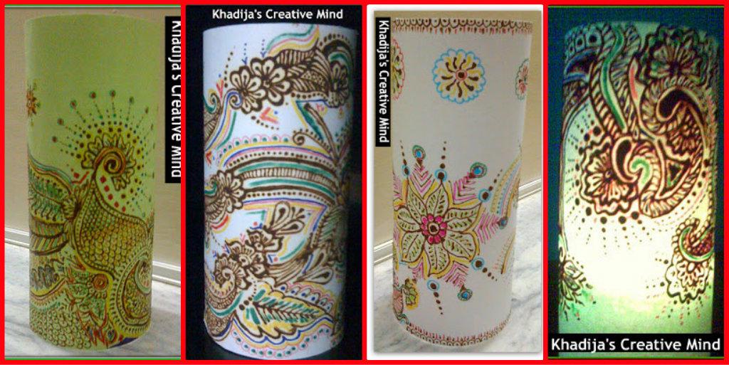 Paper Lanterns with Henna Designing Tutorial