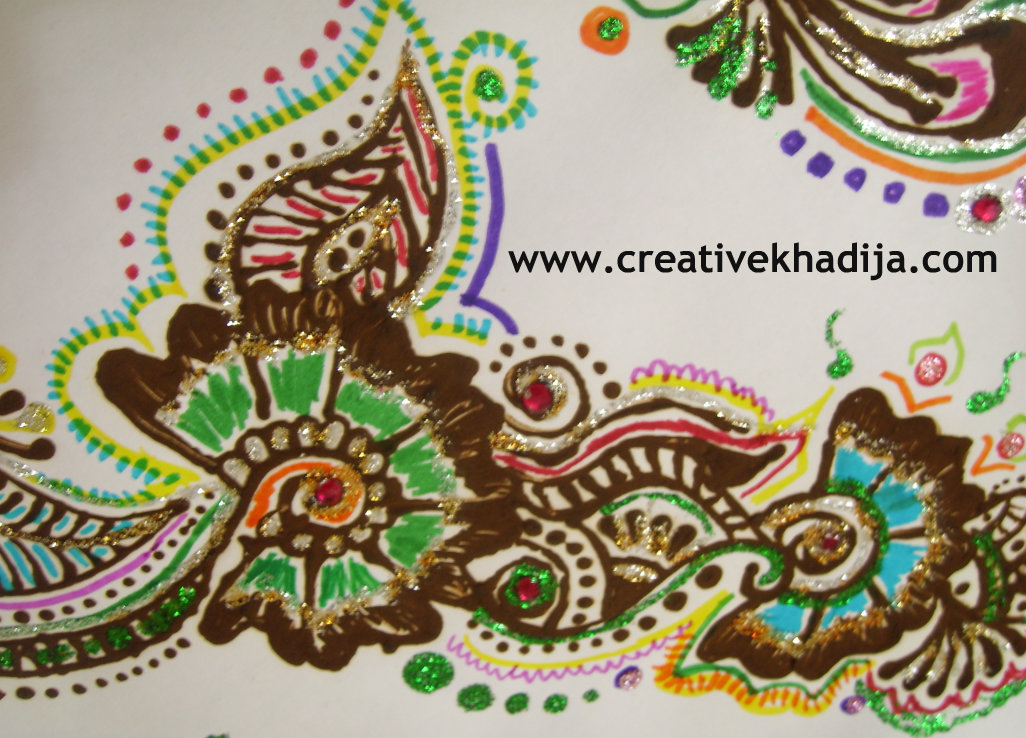 henna designs with glitter creative khadija blog