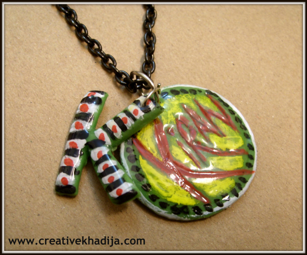customized pendant making with dough