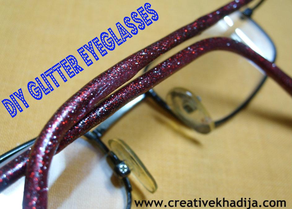glitter eyeglass DIY