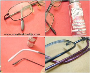 make glitter glasses