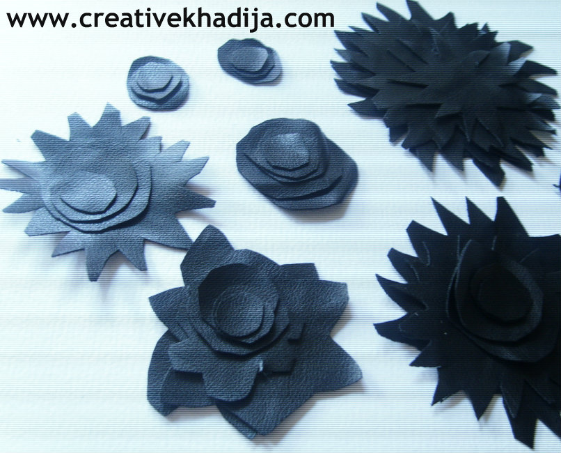leather flowers making