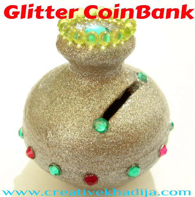 glitter shine bling coin box