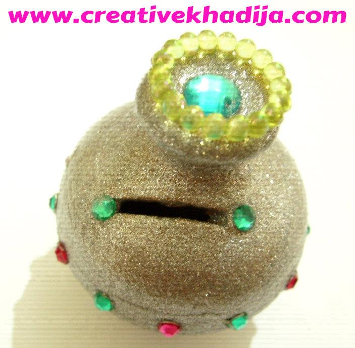 glitter shine bling coin box