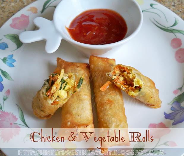 Chicken & Vegetable Rolls 1