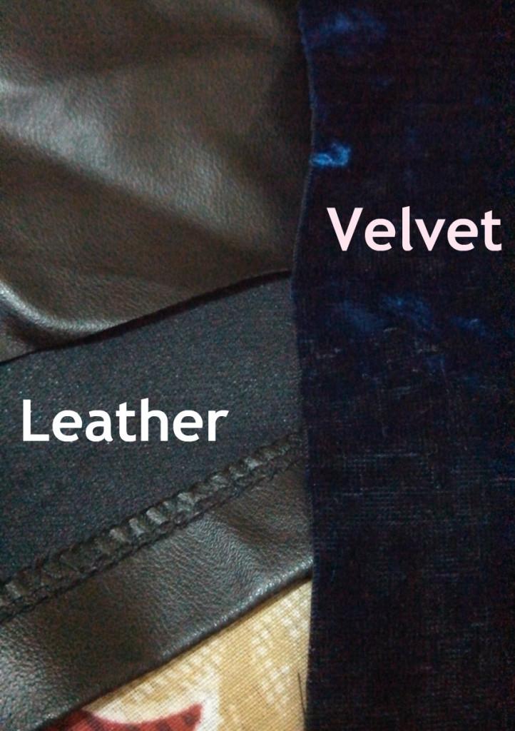 leather velvet cover