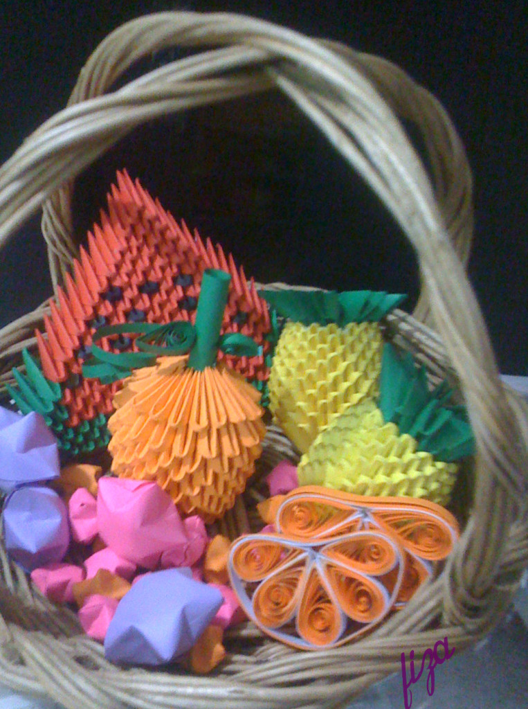 paper origami basket
