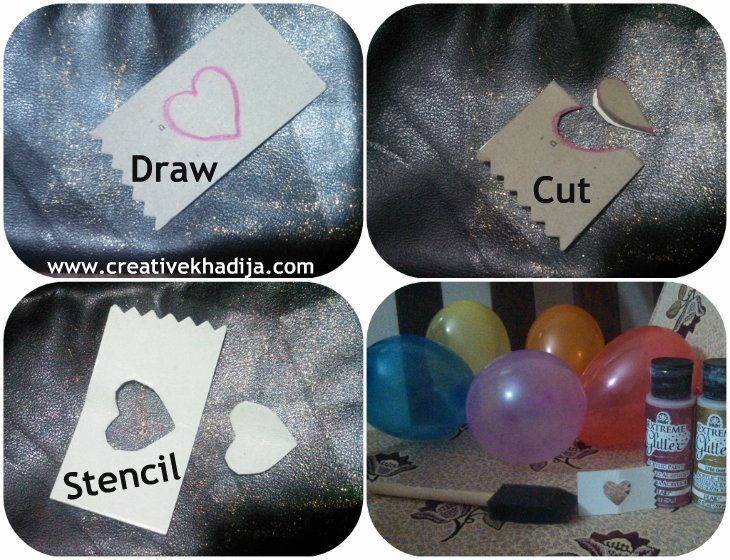 heart shape stencil cutting tutorial