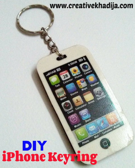 iphone keyring diy
