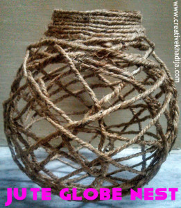 jute globe nest making