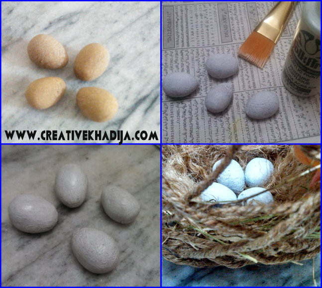make bird eggs with dough