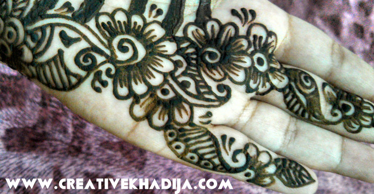 mehndi flowers design