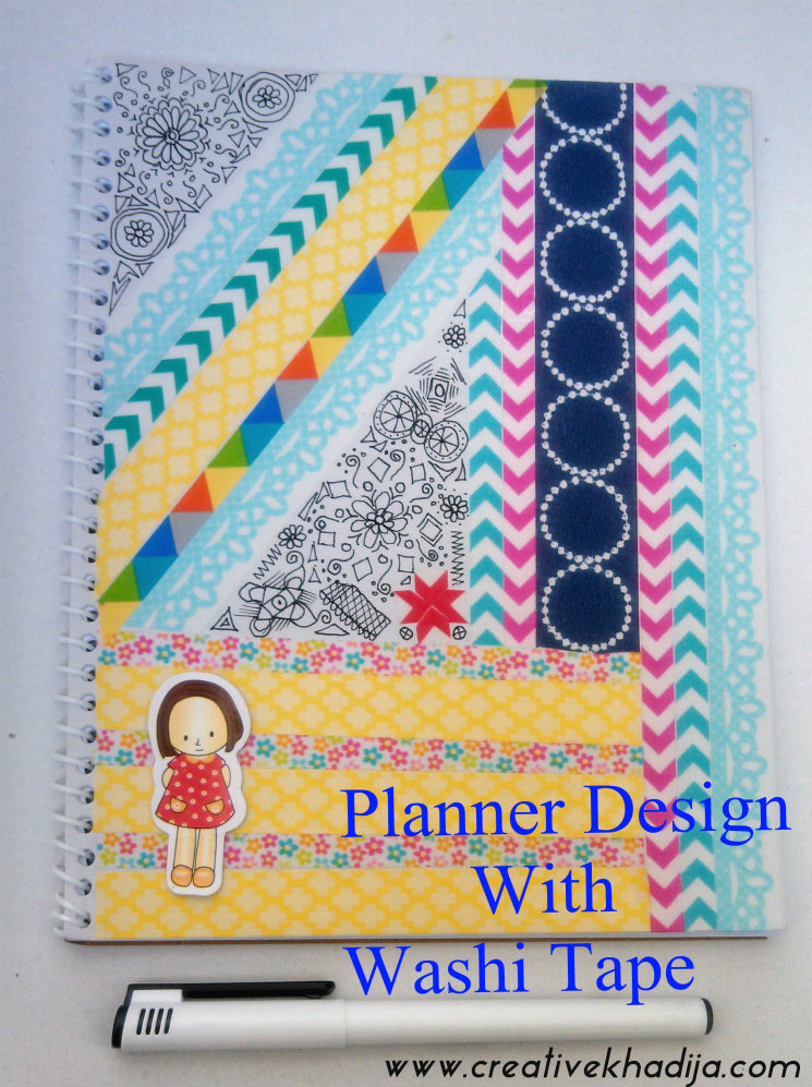 how to design washi tape planner
