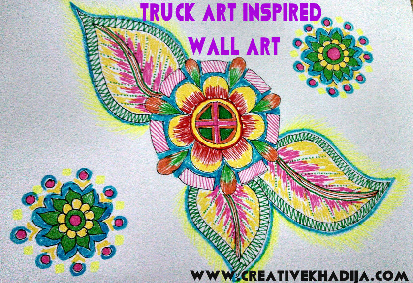 truck art inspired wall art drawings