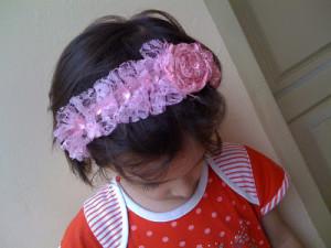 rosette headband diy