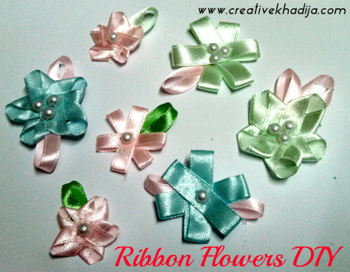 silk ribbons flowers making for headbands