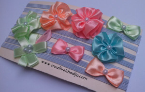 silk ribbons flowers making for headbands