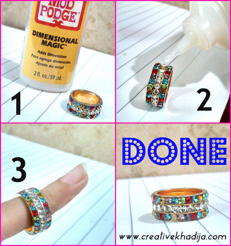 how to fix rhinestones in jewelry