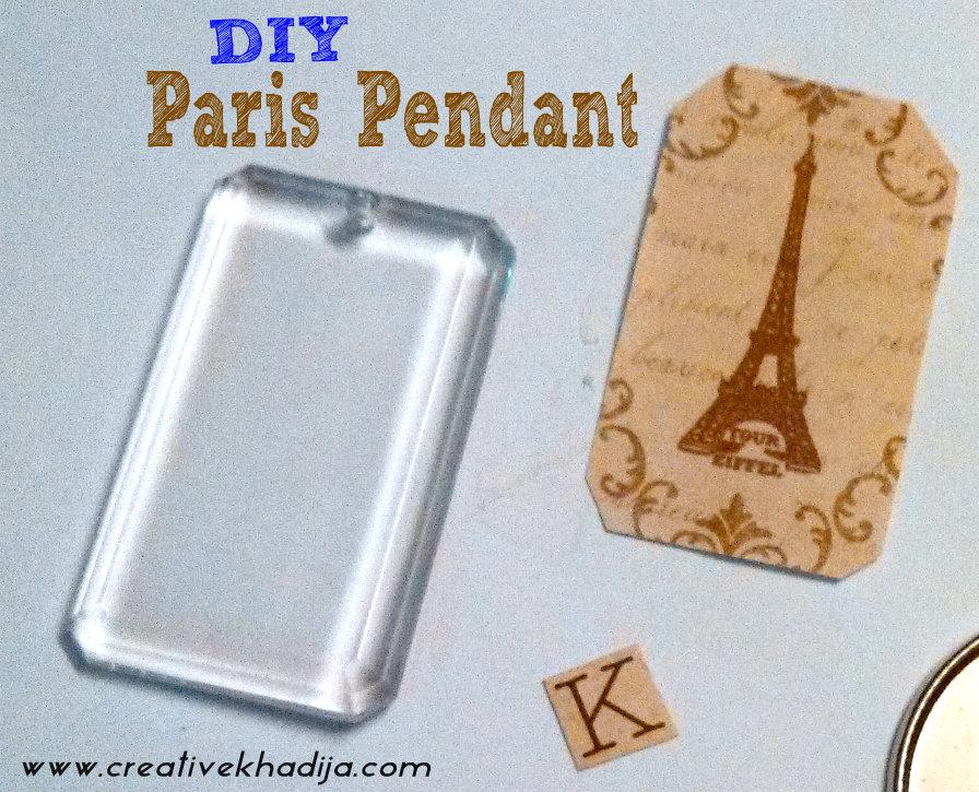 DIY Eiffel Tower Pendant
