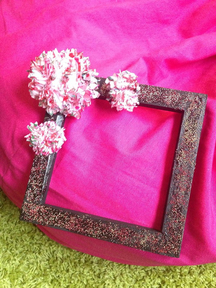 floral frame decoration with flower