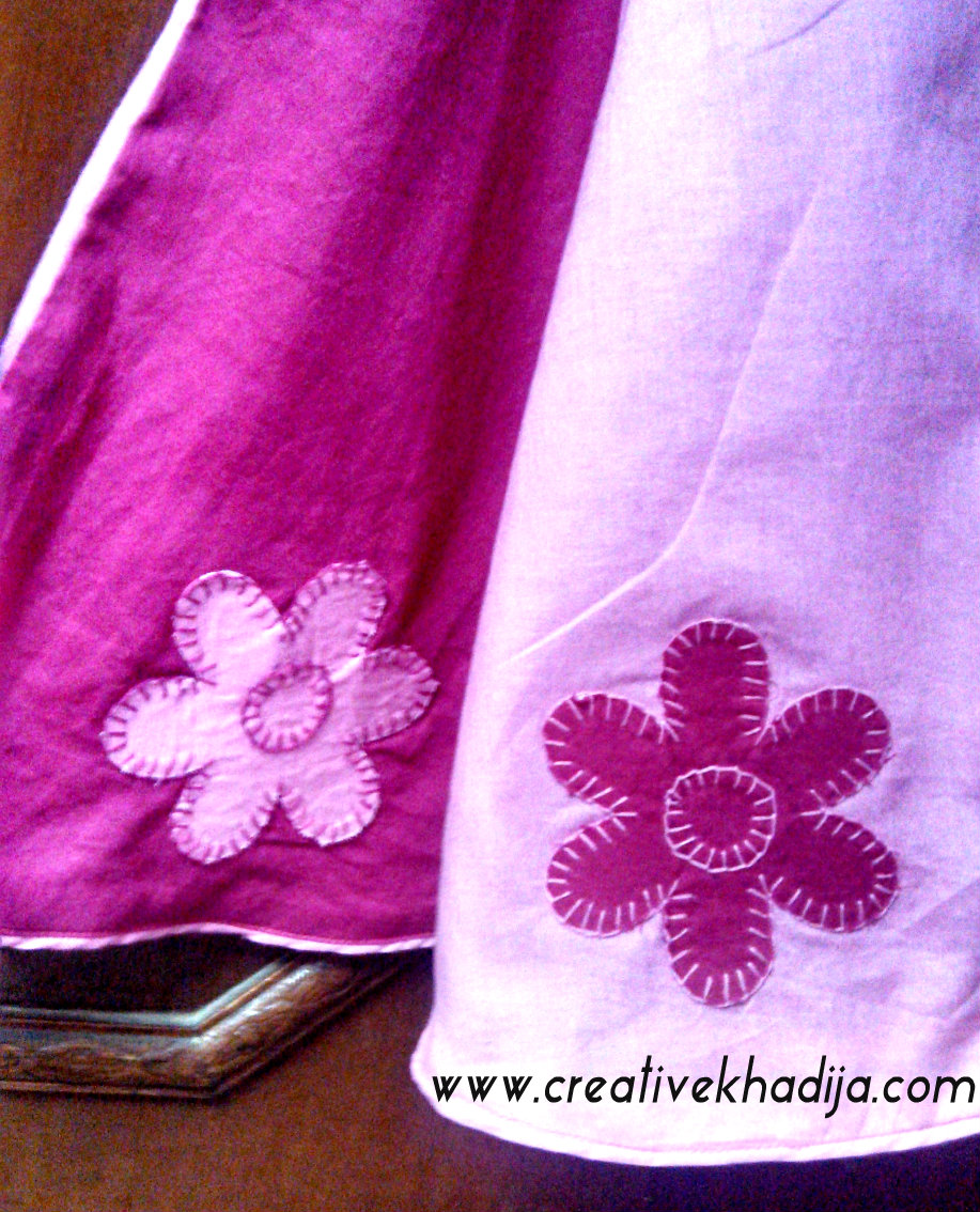 Applique on baby dress
