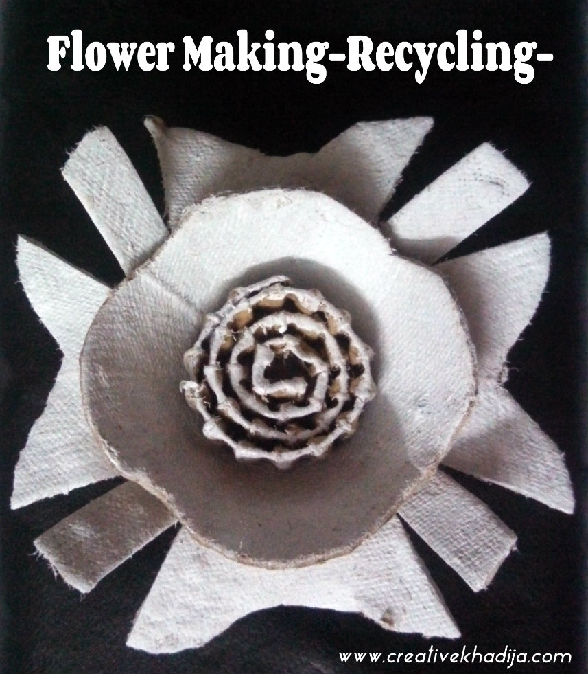 handmade flowers making recycled flowers
