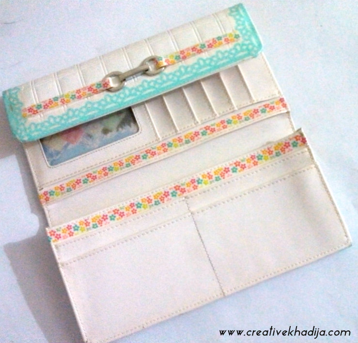 washi tape crafts purse refashion