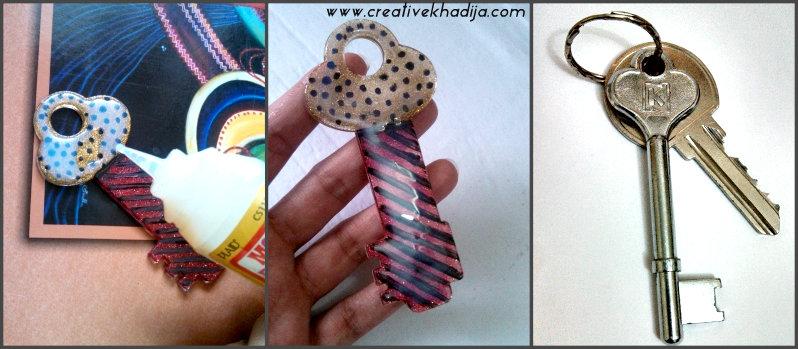 Glitter keychain DIY idea modpodge DM