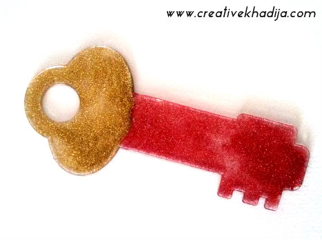 DIY Glitter key