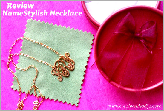 designer handcrafted monogram necklace jewelry review