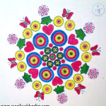 spring inspired truck art wall painting DIY by Creative Khadija
