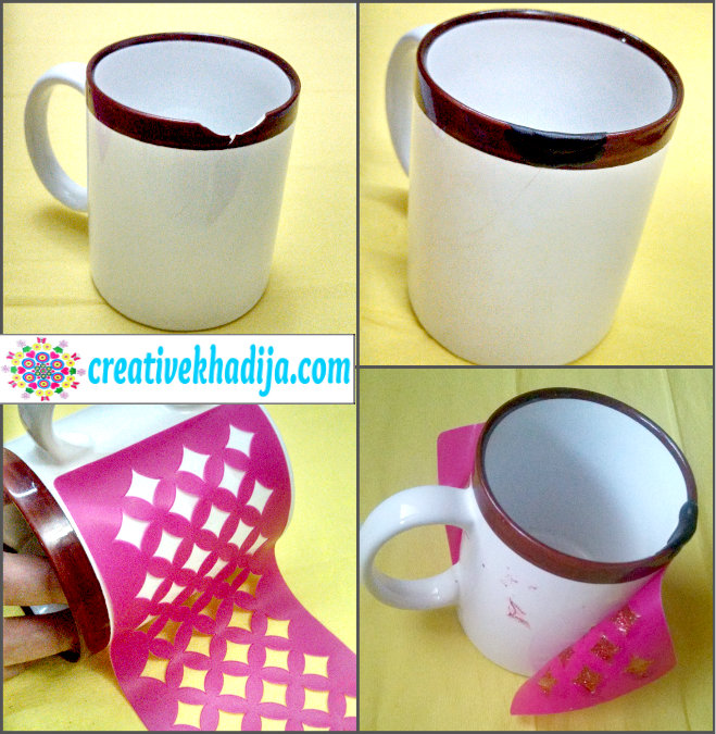 anthro inspired chevron recycled mug container DIY ideas