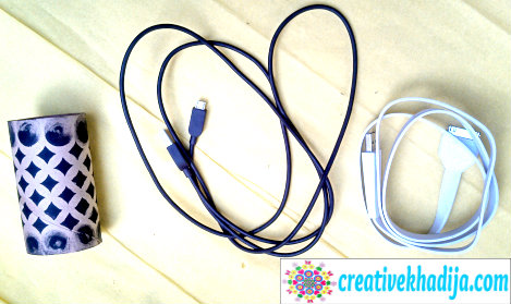 organize iphone cords cables DIY