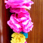 make colorful crepe paper flowers